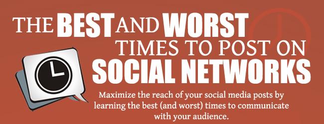 Cuándo publicar en Facebook, Twitter, Linkedin, Google+ y Pinterest #Infografía por @LoriRTaylor